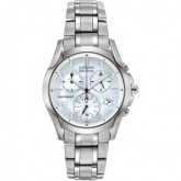 C623904_citizen eco-drive stainless steel women's chronograph watch